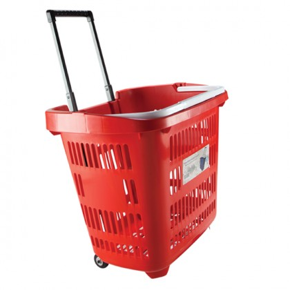 Market Basket With Wheel