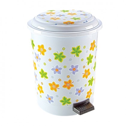 Step-On Wastebasket 12 Lt. With Decal