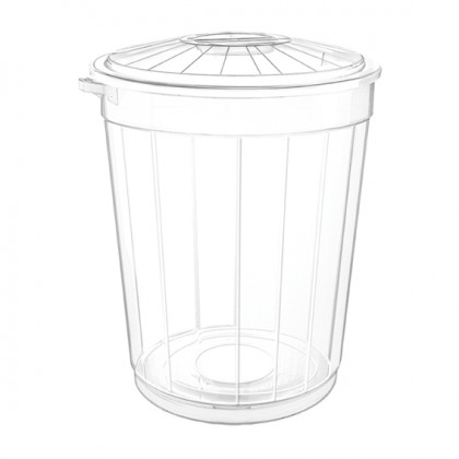 50 Lt Transparent Dust Bin With Lid