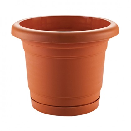 Troy Planter With Plate 28 Cm