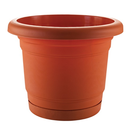 Troy Planter With Plate 35 Cm